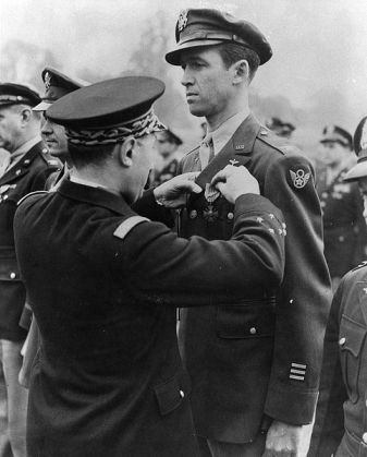 Reference:  http://www.todayifoundout.com/wp-content/uploads/2010/08/482px-Jimmy_Stewart_getting_medal.jpg